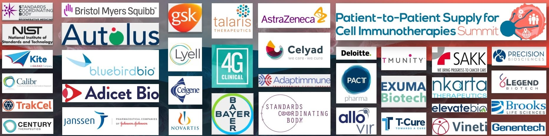 Supply for Cell Immunotherapies Summit - companies attending