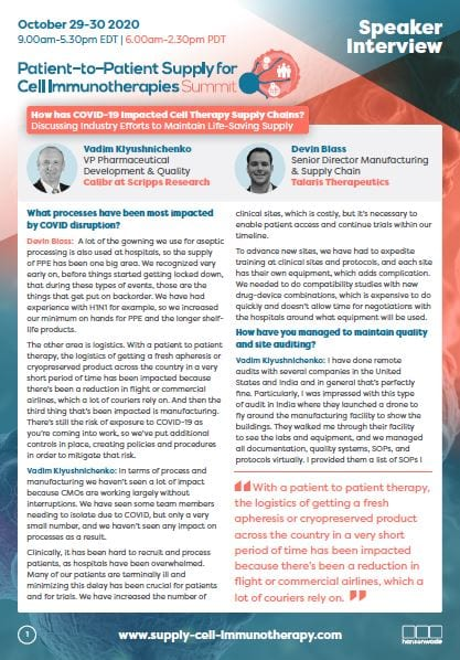 supply chain & logistics - speaker interview